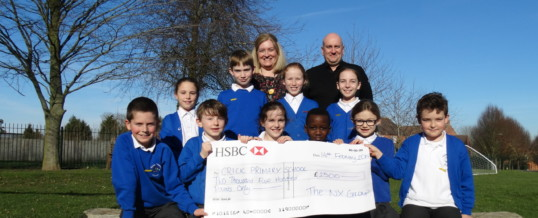 Our donation helps revamp primary school's playground in time for spring